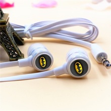 Anime Batman Cartoon In-ear Earphones 3.5mm Stereo Earbuds Phone Music Sport Game Headset for Iphone Samsung MP3 MP4 Player Gift anime my neighbor totoro in ear earphone 3 5mm stereo earbud microphone phone music game headset for iphone samsung xiaomi mp3