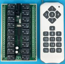 DC 12 V 10A 18CH RF commutateur de télécommande sans fil 1000 m Agriculture sécurité industrie contrôle nouvelle alimentation et arrêt