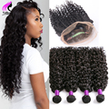 Water Wave 360 Lace Frontal With Bundle Brazilian Water Wave Virgin Hair With Closure 3 Bundles With Closure Water Curly 360 Fro