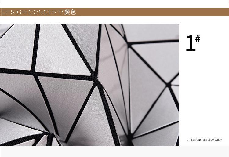 WSYUTUO Handbag Female Folded Ladies Geometric Plaid Bag Fashion Casual Tote Women Handbag Shoulder Bag 12