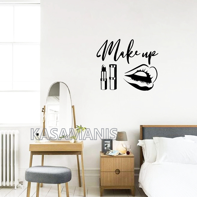 makeup wall vinyl stickers