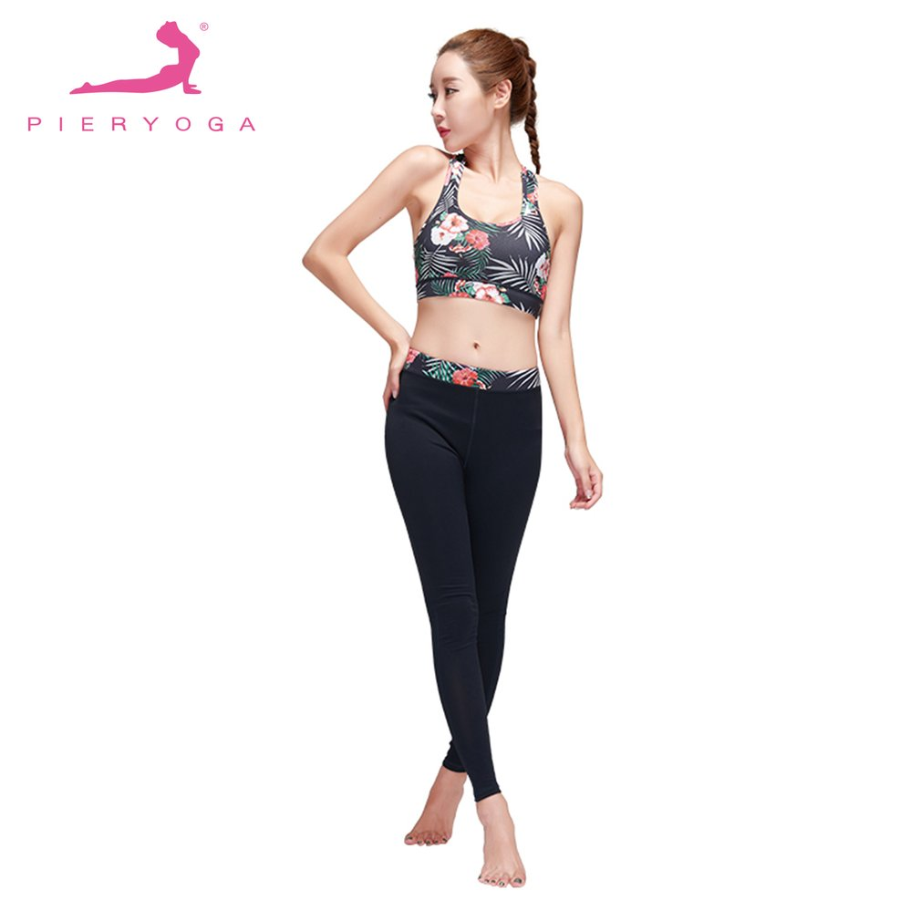 PIERYOGA Women Yoga Sets Bra+Pants Fitness Workout Clothing And Women's Gym Sports Running Girls Slim Leggings+Tops Sport Suit F women s dri fit push up yoga running sports bra