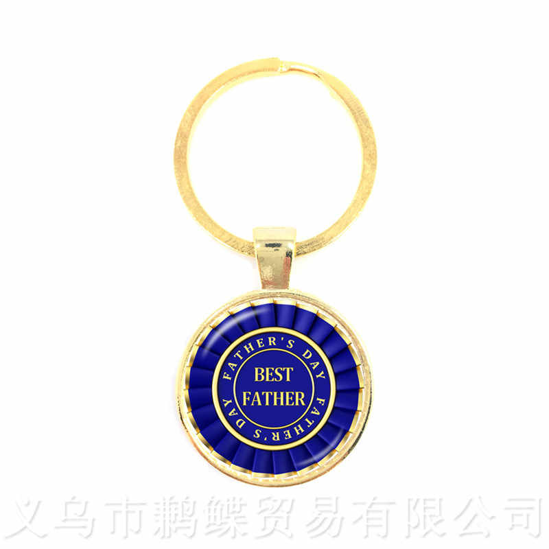 Great Father Men Keychains 15 Styles For High Quality Happy Father's Day Gifts Handmade Jewelry Keyring
