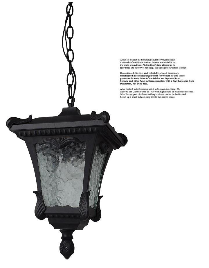 American vintage waterproof pendant lamps Retro outdoor decration balcony pendants lights Fixture E27 bulb