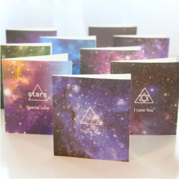 MQStyle 1Pcs New Gift Stars Birthday Card Greeting Cards Greeting Cards Valentines Day Greeting Card H0141