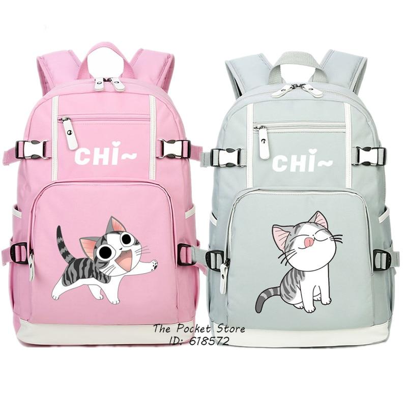 Kawaii Cat Women Backpack Chi s Sweet Home Cute Backpack Chi Cat Canvas School Bags Mochila
