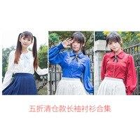 2019 New Clearing Warehouse 5 Fold Short Sleeve Long Shirt Lolita Chiffon Jacket Spot Limit Promotion 0673