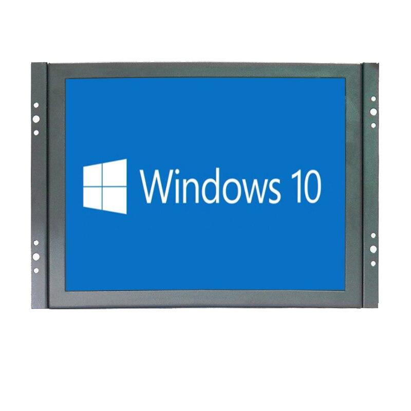 8 pouces HDMI tactile moniteur TFT LCD HD couleur écran moniteur 4:3 1024x768 avec AV/VGA/HDMI/BNC/USB entrée pour la sécurité à domicile CCTV PC