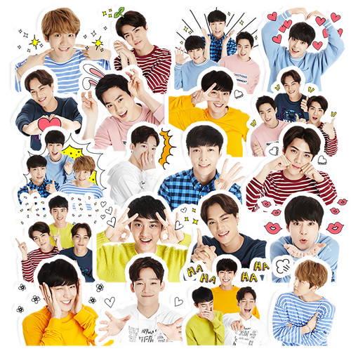 20pcs Creative Cute Self-made Exo Q Version Pretty Boys Scrapbooking Stickers /Decorative Sticker /DIY Craft Photo Albums