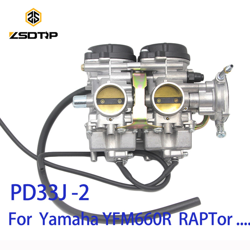 ZSDTRP PD33J 33mm Vacuum Carburetor case for Yamaha YFM400 660R RAPTOR original 300cc to 500cc 600 700cc racing motor