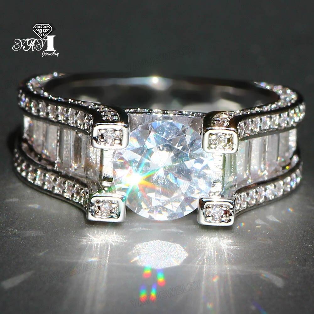 Yayi Schmuck Prinzessin Cut 7,2 Ct Weiß Zirkon Silber Farbe Engagement Ringe Hochzeit Herz Ringe Mädchen Party Ring Geschenke 897 Schmuck & Zubehör Verlobungsringe