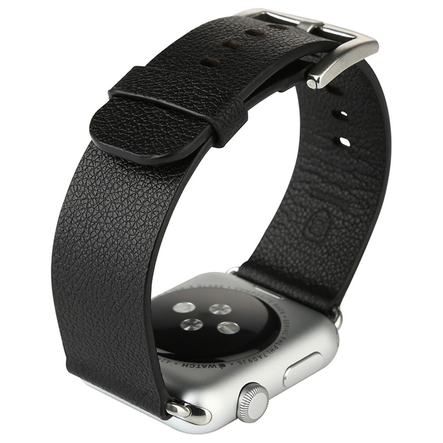 Original Baseus Leather Band Strap Stainless Steel Buckle Adapter Belt For Apple Watch 42mm Smart Watch Watchband