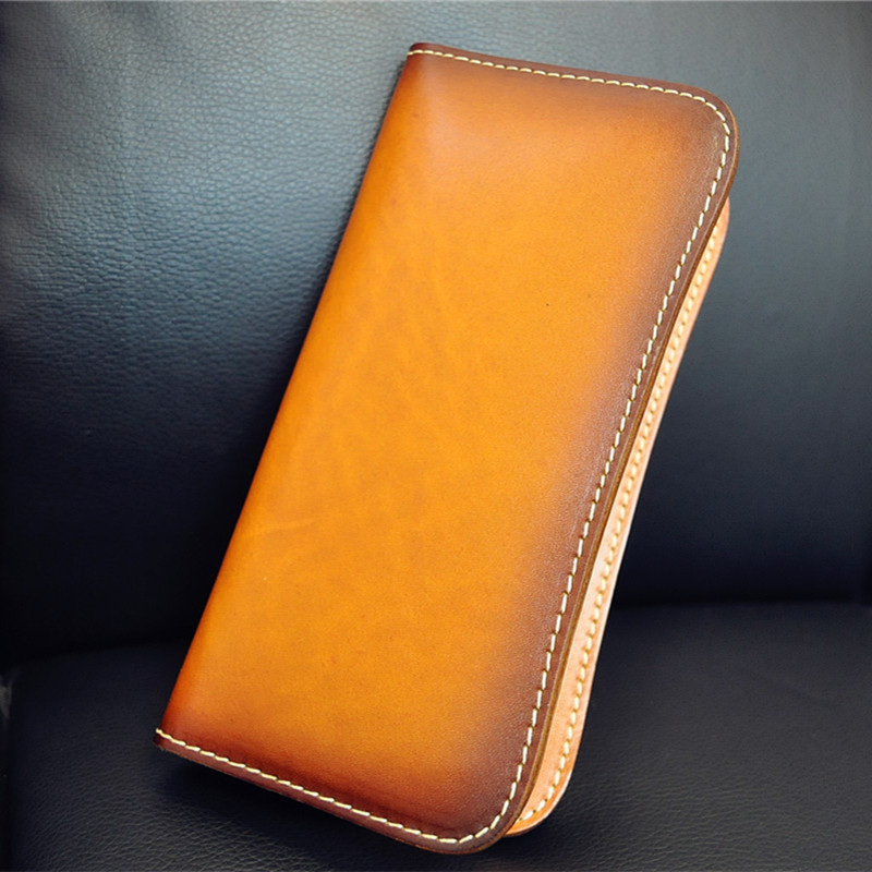 2017 New Women Men Long Clutch Vegetable Tanned Leather Wallet Cow Leather Wallets Brown Bag Purses Card Holder Zipper Poucht original projector lamp bulb 311 8943 for 1510x