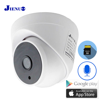 Dome Camera Wifi IP 1080P 720P Audio CCTV Security HD Home Surveillance Indoor Wireless Infrared Night Vision Monitor ipCam jienuo home camera wifi ip 1080p 720p audio dome cctv security hd surveillance indoor wireless infrared night vision monitor cam