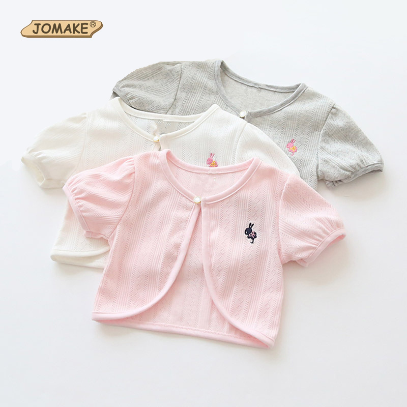 Bunny Embroidery Girl Short Coat Summer Jackets For Girls ...
