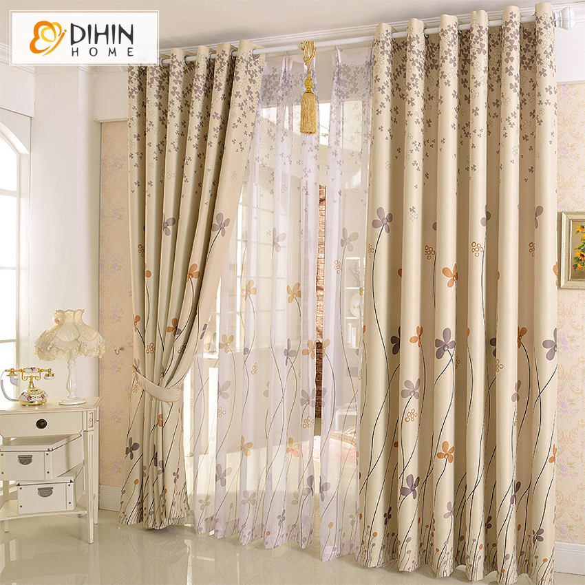 Buy new arrival garden flower curtain cortina the curtains shading cloth - Pictures of curtains ...