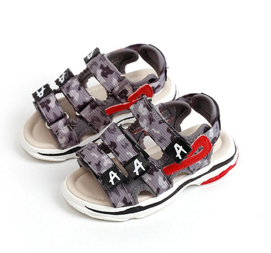 3-13Y Kids Footwear Children School Shoes Boys Girls Sandals 2018 Camouflage Beach Shoes Casual Apartments Baby Summer Sandals
