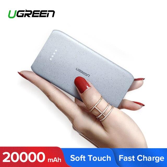 Ugreen Banco de la energía 20000 mAh de carga portátil externo Poverbank para Xiaomi mi 8 Batería del teléfono móvil cargador Powerbank 20000 mAh