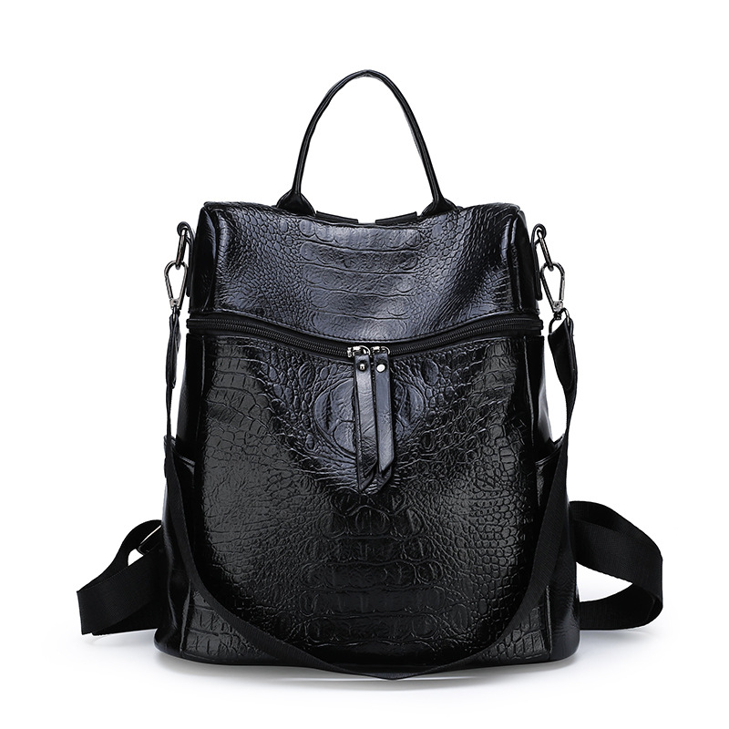 Preppy Style Fashion High Quality Leather Women Backpack Vintage School Bags For Teenager Girls Casual Women Daily Bag in Backpacks from Luggage Bags