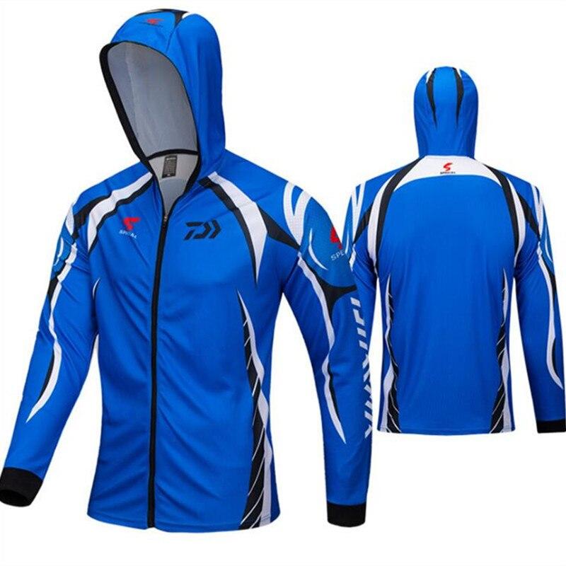 DAIWA Unisex Hat Mask Fishing Clothing Anti Sunscreen UV Fishing Shirts Sports Clothes Hiking Long Sleeve DAWA