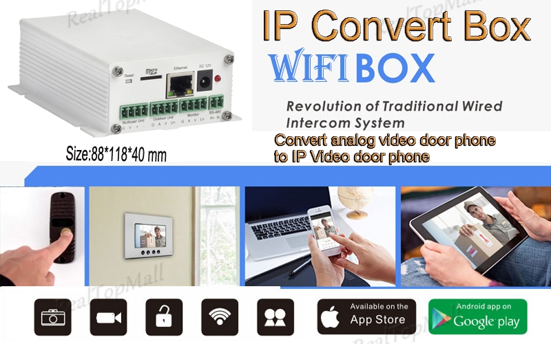 Wireless WiFi IP Convert BOX Converting analog Video