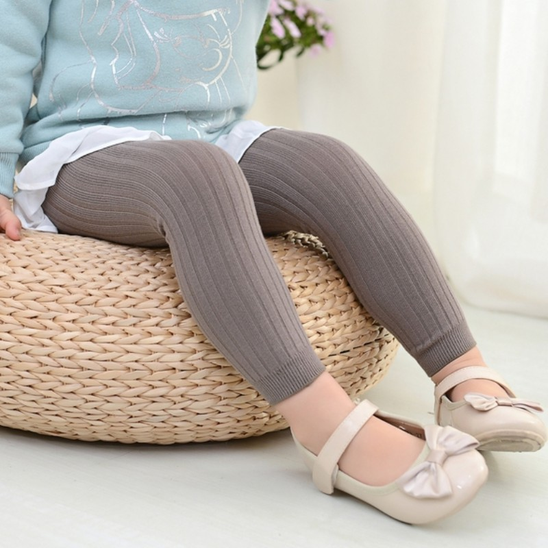 Children Ruched Kids Clothing Girls Leggings Fashion Knitting Autumn Winter Cotton Warm Outfit Render Pants