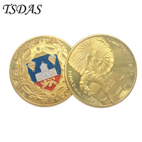 Gold Plated Coins Home Decoration D-day France Normandy Landing Campaign Double Side Souvenir Coin 1pc Drop Ship