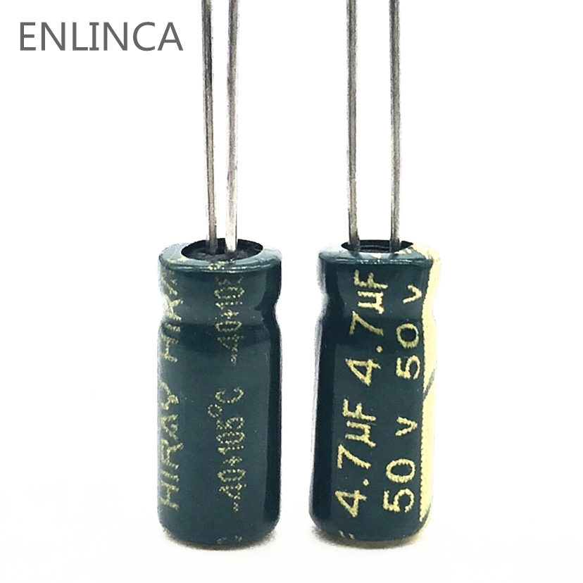20pcs/lot S24 High Frequency Low Impedance 50v 4.7UF Aluminum Electrolytic Capacitor Size 5*11 4.7UF 20%