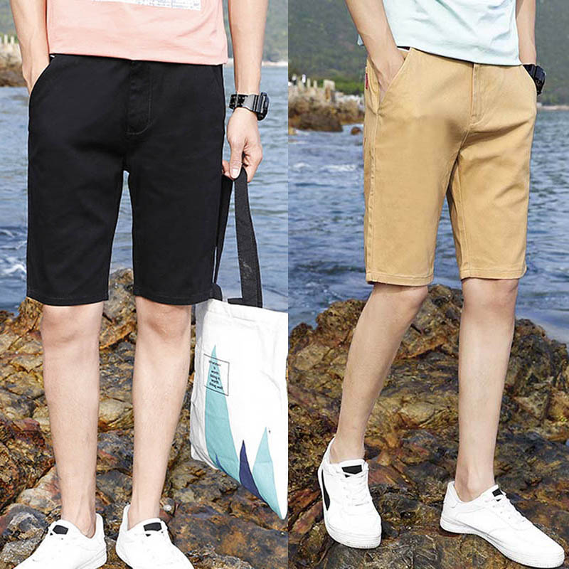 Summer Shorts Men Brand Male Casual Khaki Men Shorts Slim Fitness Plus Size Beach Cotton Short Pants Bermuda Female 2018