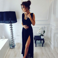 Fall 2017 Fashion Womens Party Dresses Ukraine Ankle Length Vintage Maxi Beach Red Black Blue Bohemian