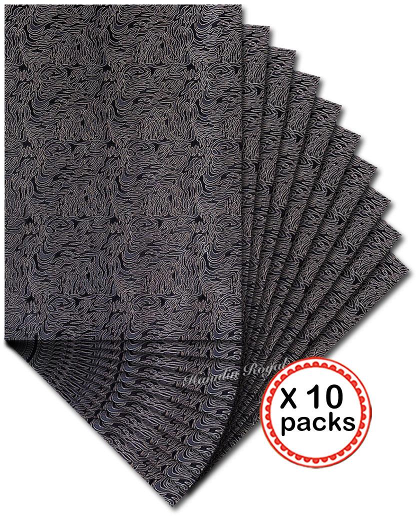 Black Silver 10 packs 20 PCS African Jubilee SEGO headtie hair ties scarf head gele and