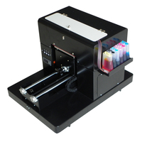 High Quality A4 Size Flatbed Printer Machine For Print T Shirt Phone Case Pen Printer