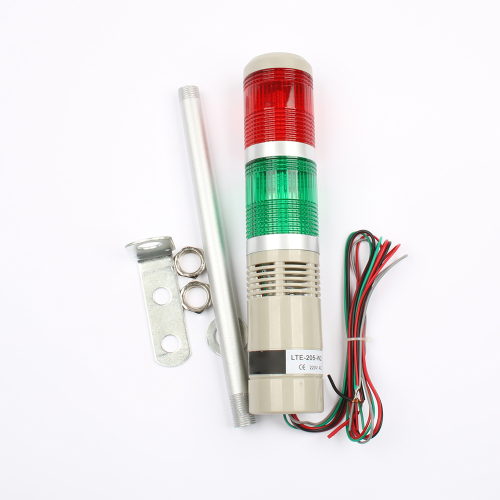 LED AC220V 110V DC 12V 24V Safety Stack Lamp Red Green Yellow Flash Industrial Tower Signal Light LTA-505 Red and green 2 layer купить в Москве 2019
