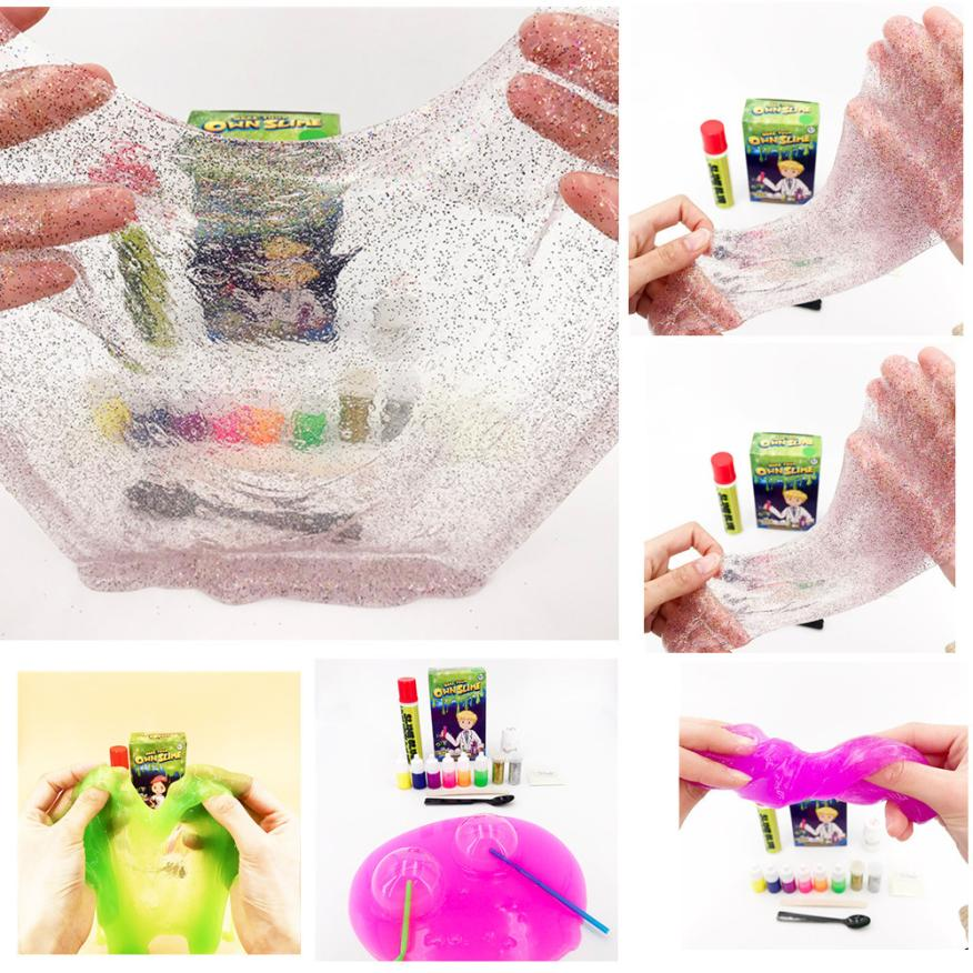 CHAMSGEND toy Plasticine Slime Kit Make Your Own Kids Gloop Sensory Play Science DIY Education Toy Game plasticine toys AP6 ...