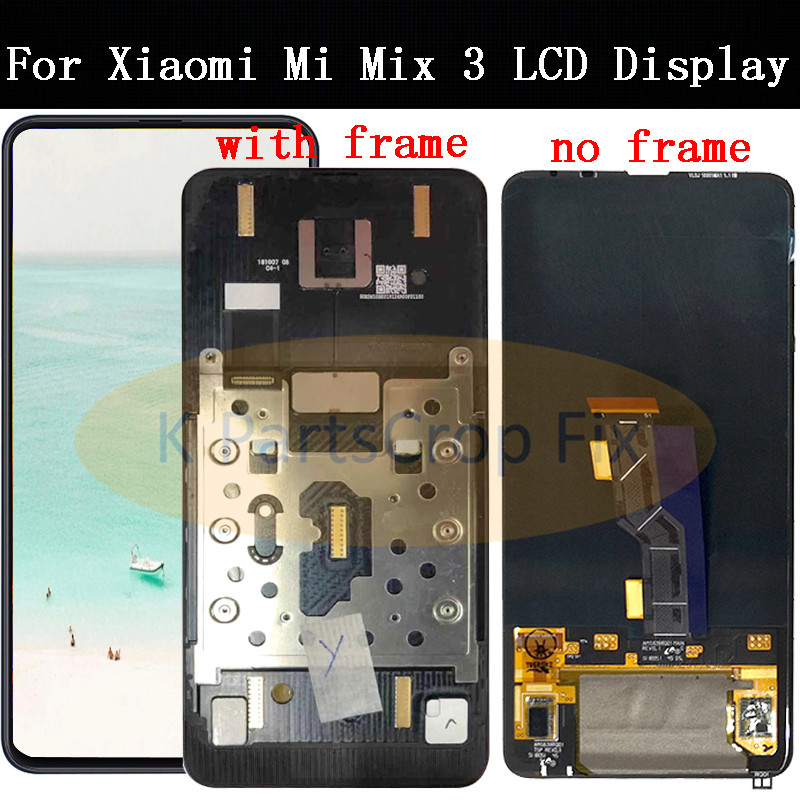 For Xiaomi Mi Mix 3 LCD Display Touch Screen Digitizer Assembly With Frame For 6 4