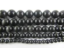OMH wholesale 96-28PCS 4-14mm black jewelry DIY obsidian beads Suitable for bracelet necklace ZL589(China)