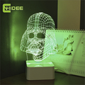 CNHIDEE Novelty USB Christmas Lampara Darth Vader Night Lights 3D Led Desk Lamp Dimmable Abajur as Creative Gifts