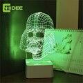 Darth Vader CNHIDEE Lampara USB Novidade Natal Luzes Da Noite 3D Led Dimmable Lâmpada de Mesa Abajur como Presentes Criativos