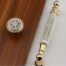 3.75″ 5″ modern  fashion deluxe rhinestone dresser wardrobe door handle silver white gold glass crystal drawer cabinet knob pull