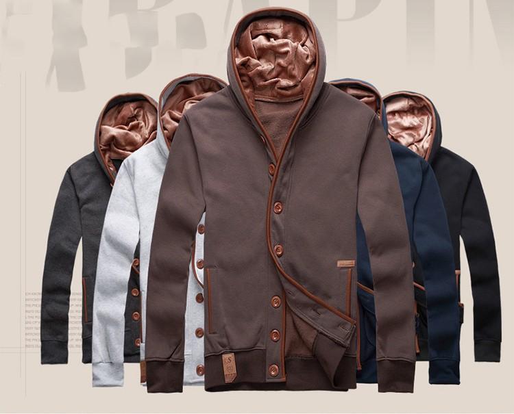 JeeToo Men Hoodies 17 Casual Hoodies Men Fleece Fashion Hip Hop Warm Hoody Polo Mens Hoody Jacket Sweatshirt Mens Sweat Homme 13