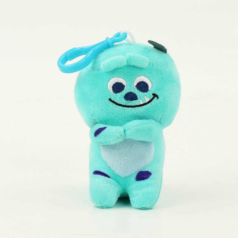 10 cm James P Sullivan chaveiro plush doll toy Hot Filme Mike Wazowski e James P Sullivan Sulley bonito macio brinquedo recheado de algodão
