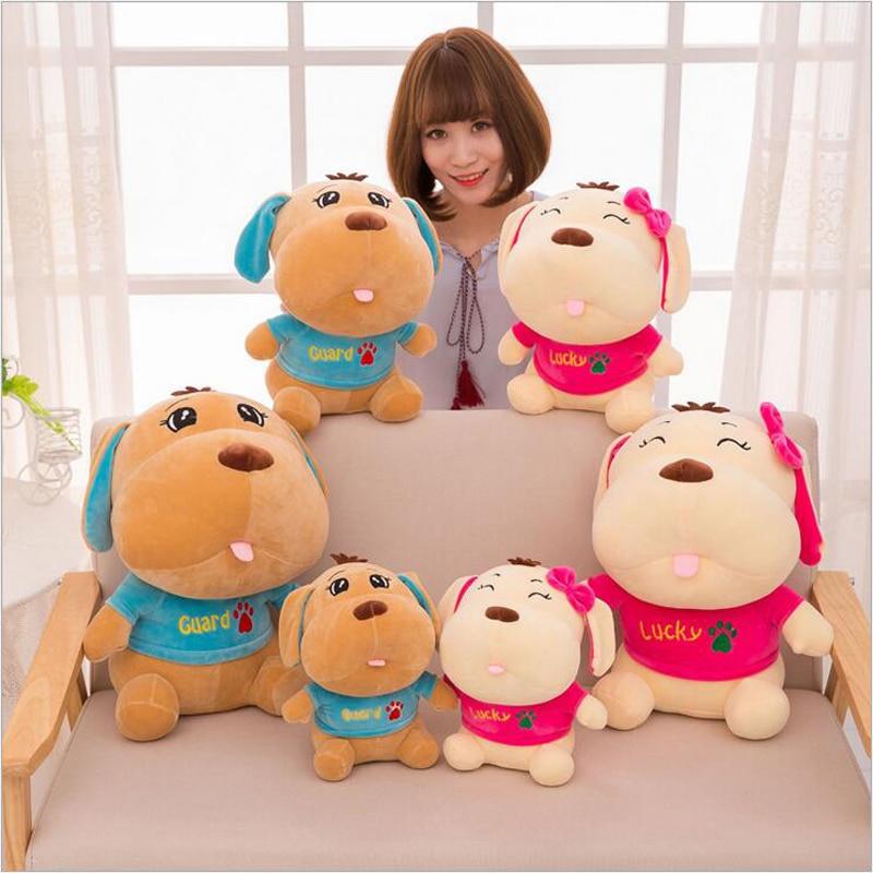 Novo Estilo Bonito Amantes de Cães Cão Curto Plush Toy Stuffed Animal Plush Doll Melhor Presente para As Crianças