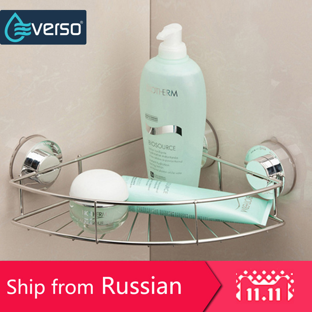 EVERSO Corner Shelf Bathroom Accessories Stainless Steel Shelves Bathroom  Shelf Corner Shelf Shower Hair Dryer Holder