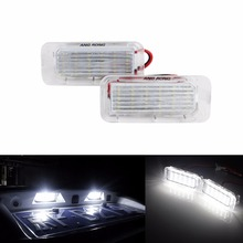 купить ANGRONG 2x LED Licence Number Plate Light For Ford Fiesta Focus C-Max Kuga Mondeo Galaxy MK4 дешево