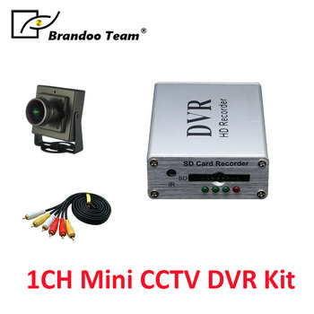 1Channel mini D1 SD CCTV DVR works with 64GB memory for home factory office mini car taxi used.free shipping.