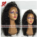 Free Shipping High Quality Little Curl Synthetic Lace Front Wigs With Baby Hair Black Color Water Wave Synthetic Wigs In Stock