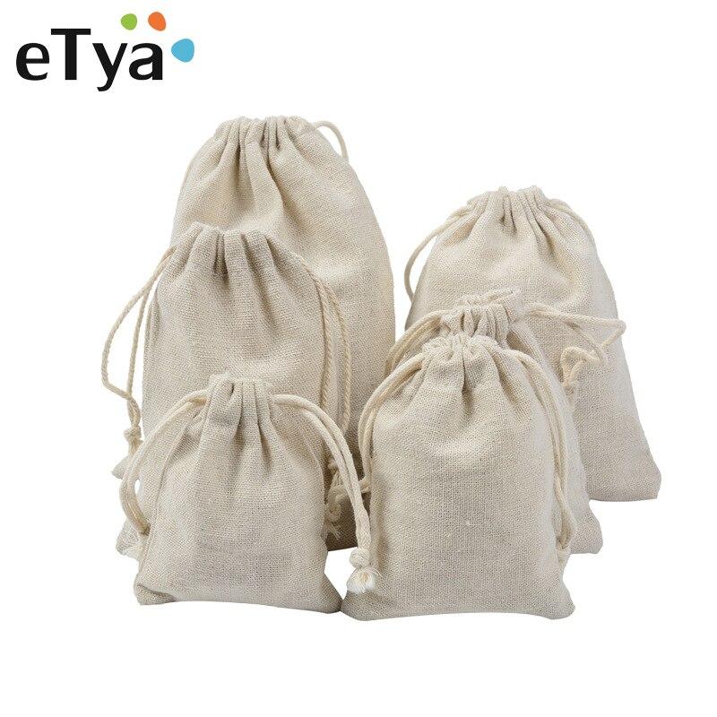 ETya Travel Drawstring Cosmetic Bag Makeup Bags Women Men Travel Organizer Storage Pouch Drawstring Bag Toiletry Kit Wash Case