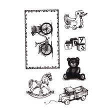 Cute Trojan Duck Bear Toy Transparent Clear Rubber Stamps Scrapbooking DIY Photo Album Decor Embossing Folder Stencils Supplies