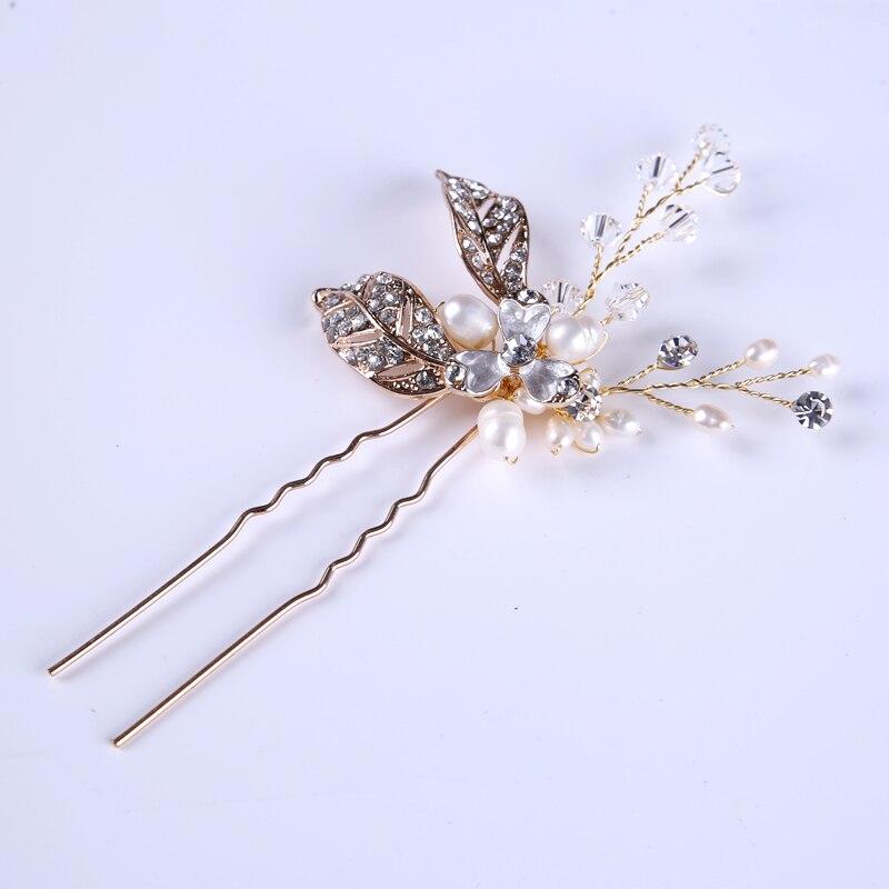 1 Stücke Romantische Mode Strass Kristall Perle Haarnadeln