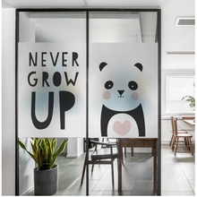 Cartoon frosted electrostatic glass window stickers kindergarten translucent opaque custom hair